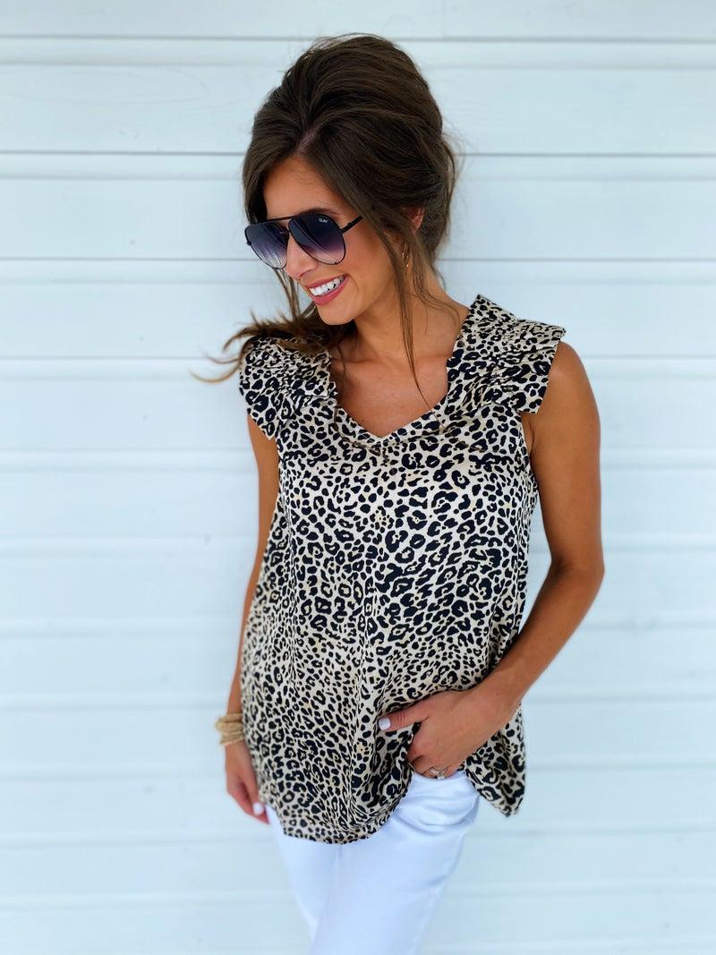 Daphne Leopard Top