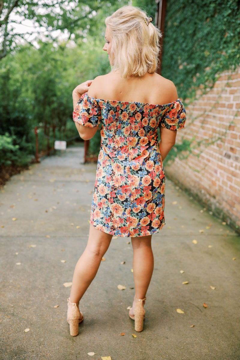 Make It Right Floral Dress