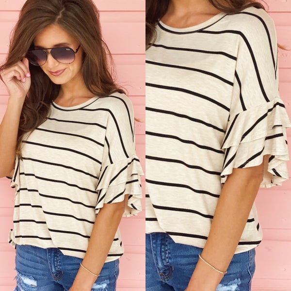 Tell Me About It Striped Top