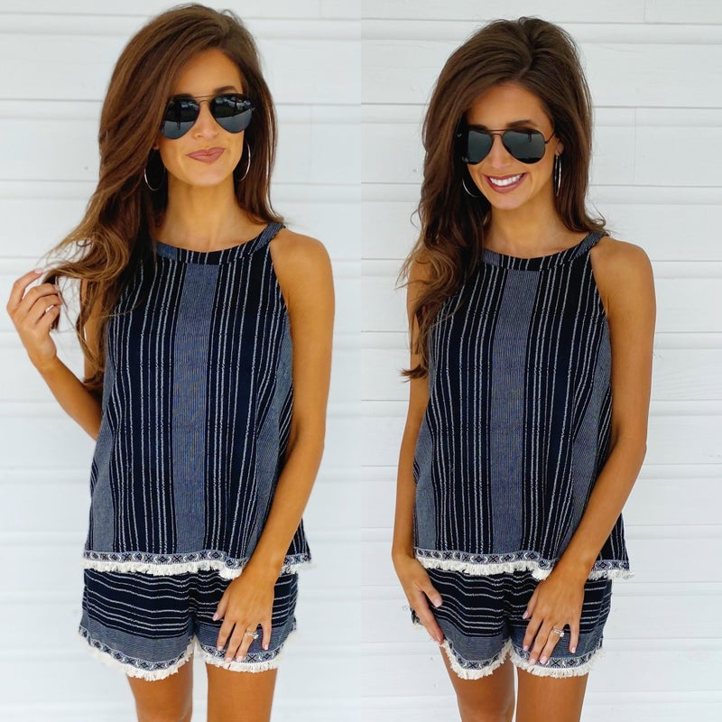 Share The Love Striped Set
