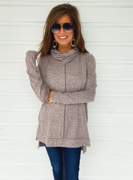 Mauve Turtle Neck Tunic
