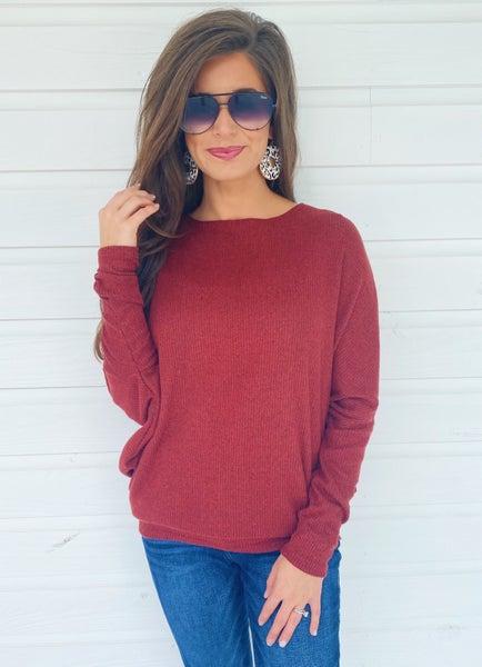 Rust Dolman Sleeve Sweater *Final Sale*