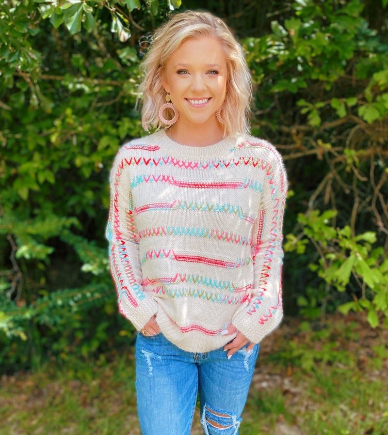 Crazy About Color Sweater