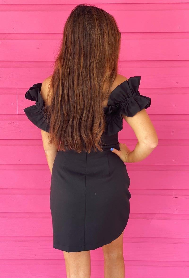 Shine All Night Black Dress