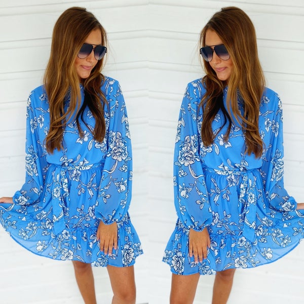 Periwinkle Floral Dress
