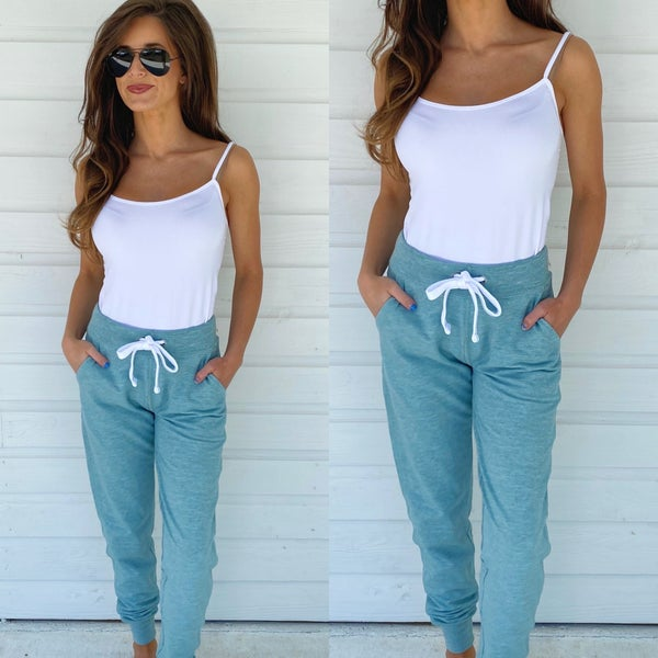 Maybe Later Mint Joggers