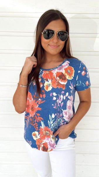 Ready For Royal Floral Top