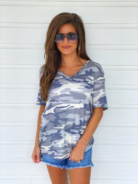 Can't Wait Camo Top