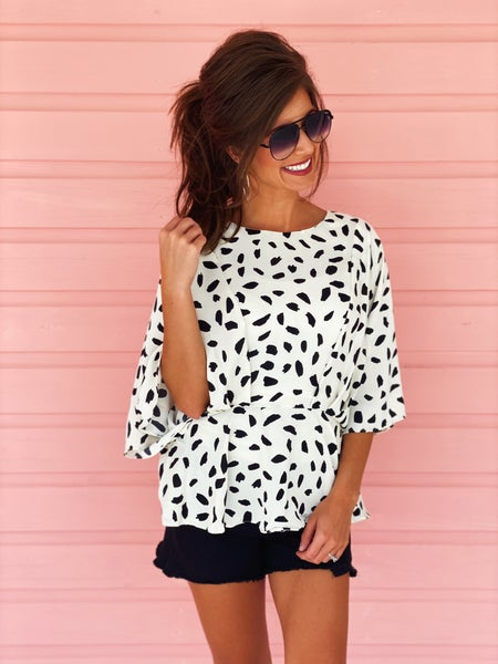 I Spotted You Peplum Top