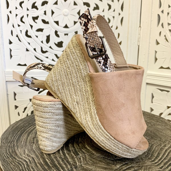 Emery Wedges- Taupe