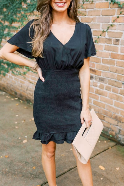 Bentley Black Smocked Dress