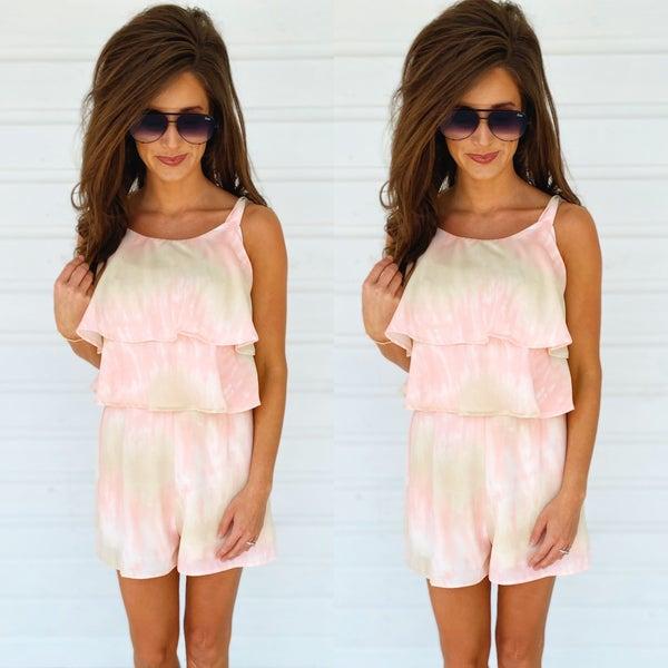 Pink As Can Be Tie Dye Romper