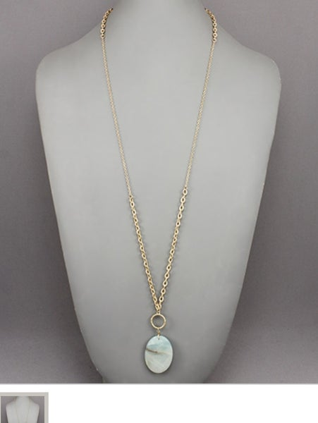 Sea Foam Stone Necklace