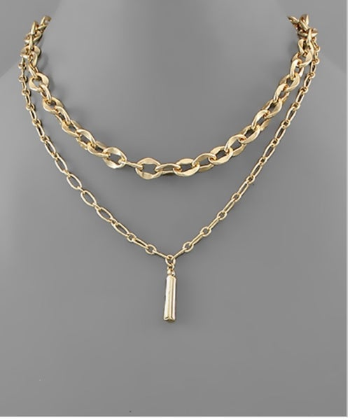 Raise The Bar Gold Layered Necklace