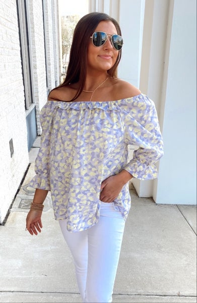 Lilac and Lime Leopard Top