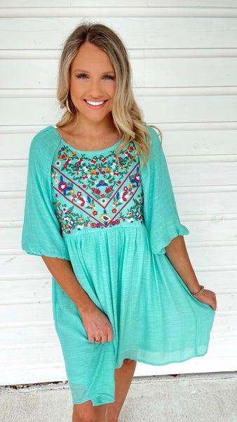 Sunshine Goddess Floral Dress