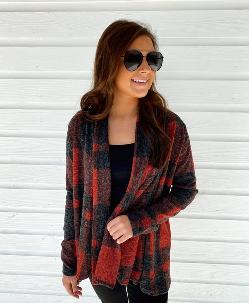 Polly Plaid Cardigan *Final Sale*