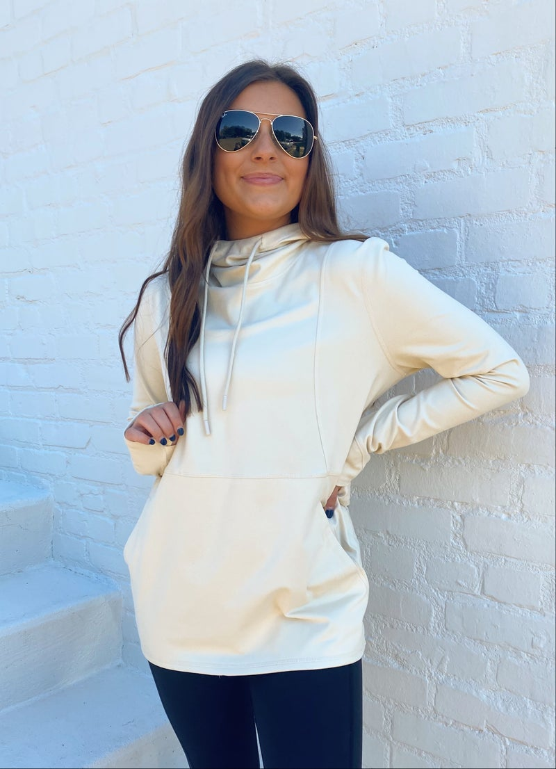 Taylor Natural Hooded Pullover