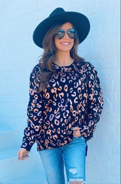 Black & Rose Gold Shimmer Sweater