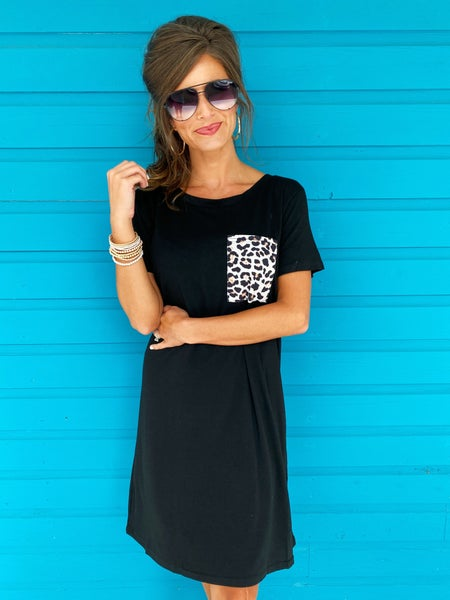 Good Days Pocket Dress- Black