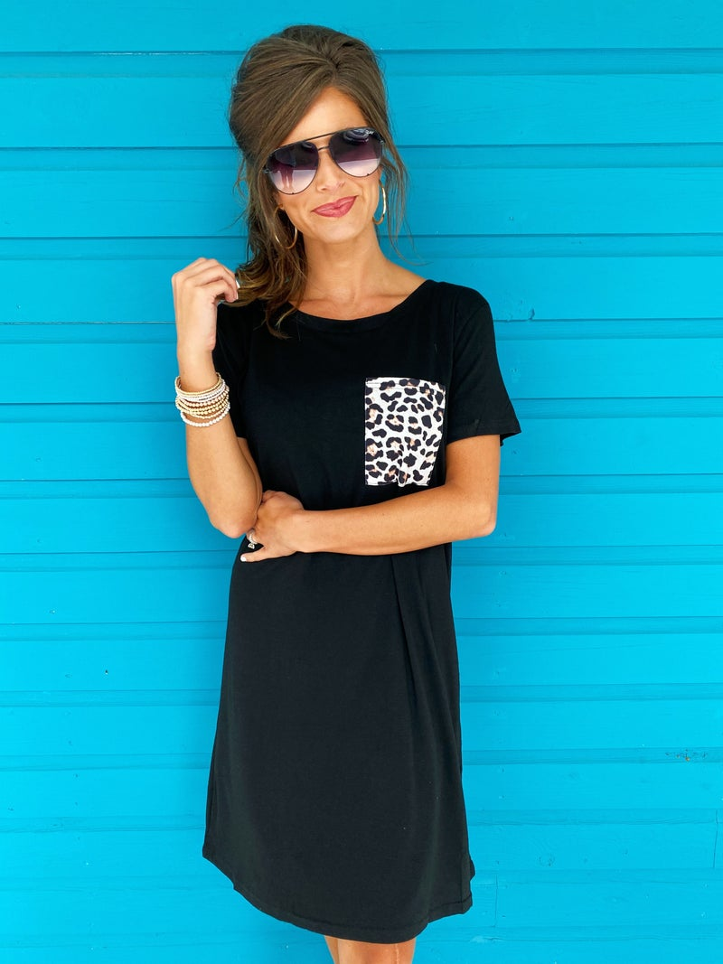 Good Days Pocket Dress- Black