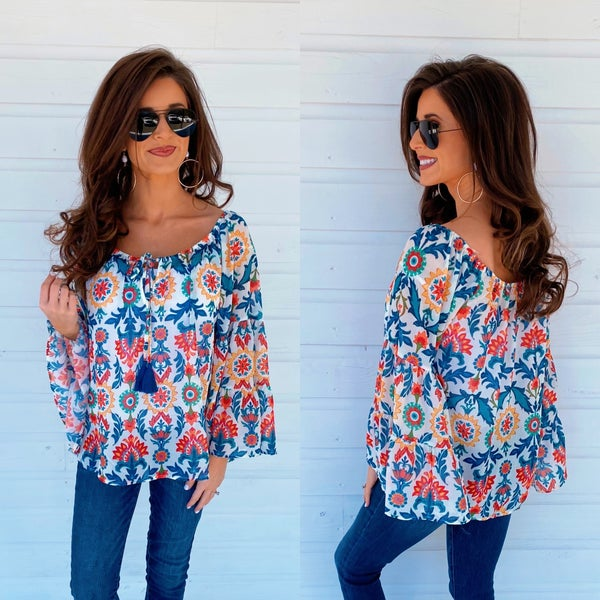 Colorful Abstract Printed Top