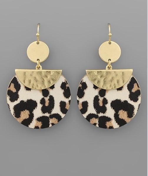 Captivating Animal Print Disc Earrings