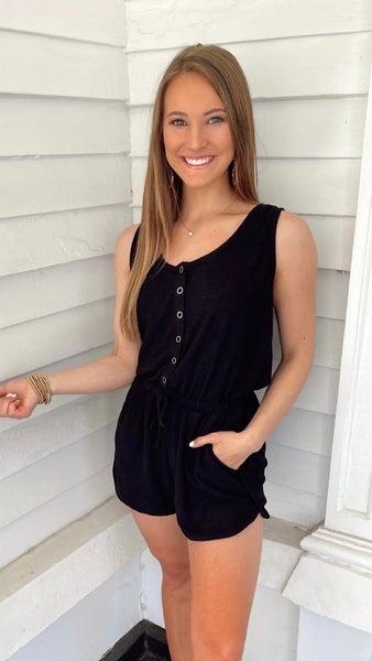 Brielle Black Romper