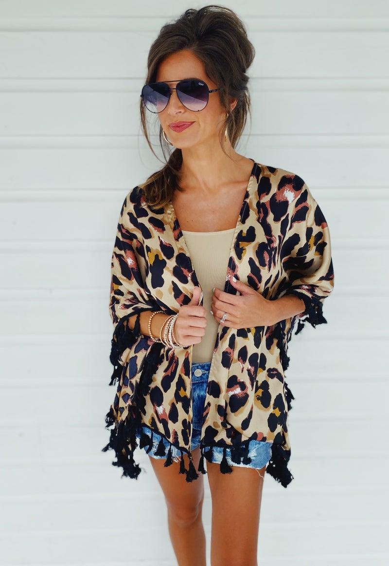 Lovely In Leopard Kimono