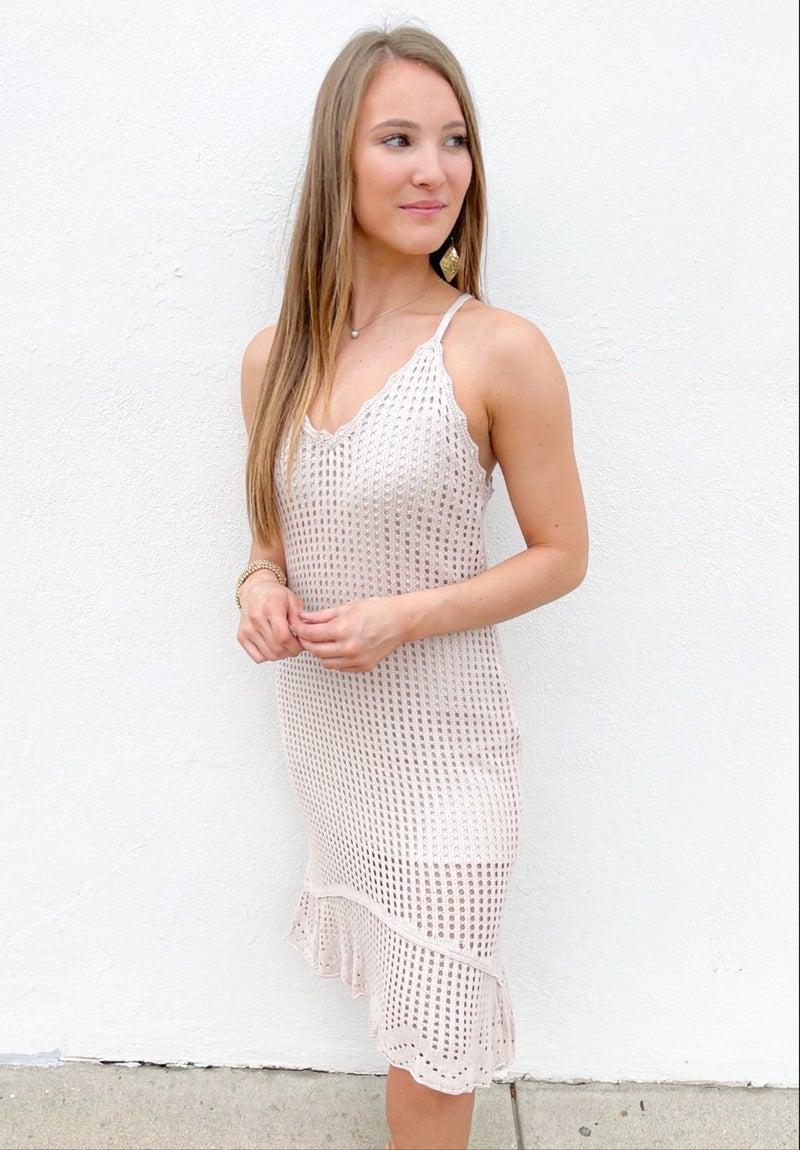Not So Natural V Neck Dress