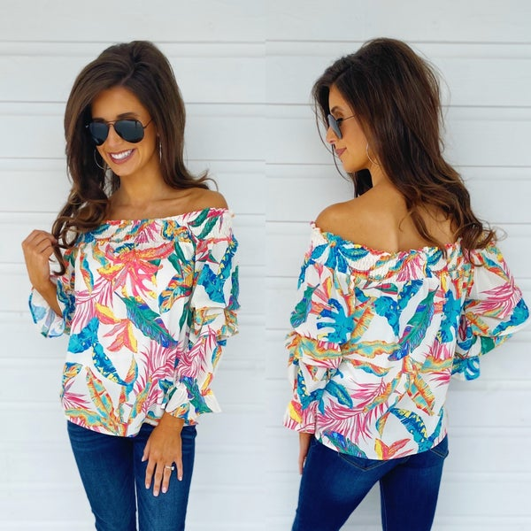 Dreaming Of Paradise Off Shoulder Top