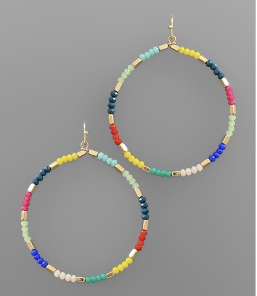 Callie Colorful Circle Earrings