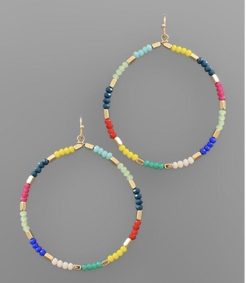 Callie Colorful Circle Earrings