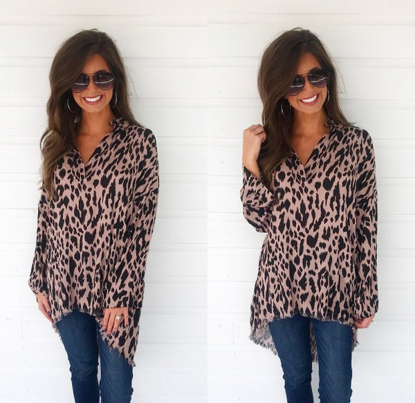 Wildlife Leopard Print Top