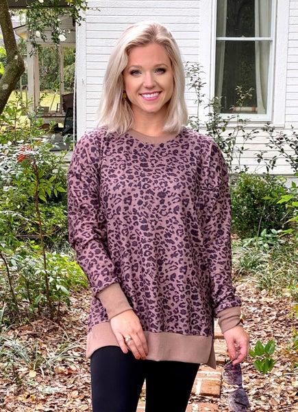 Brynlee Brown Leopard Top