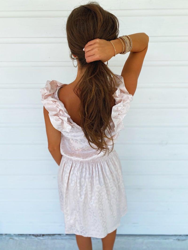 Eliza Leopard Dress- Cream
