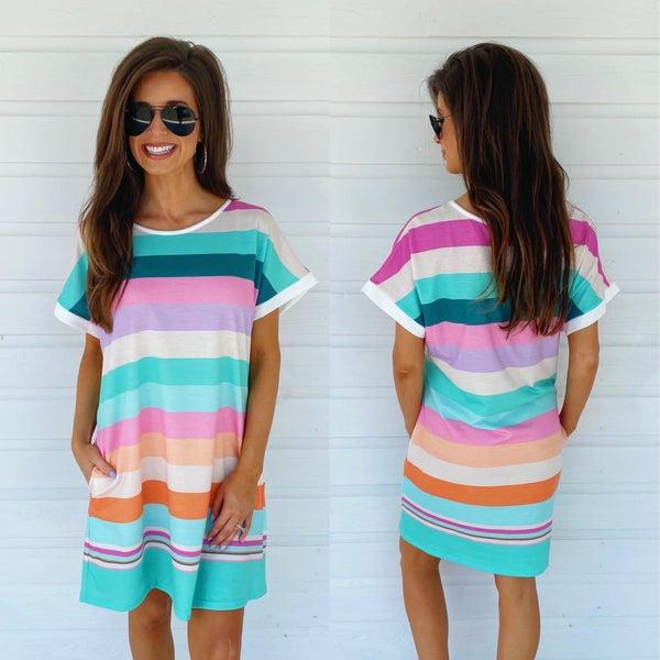 Summer Season Striped Dress