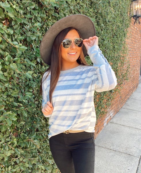 So Simple Striped Top