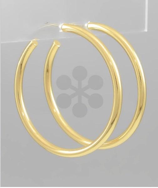 Go For The Gold Hoop Earrings