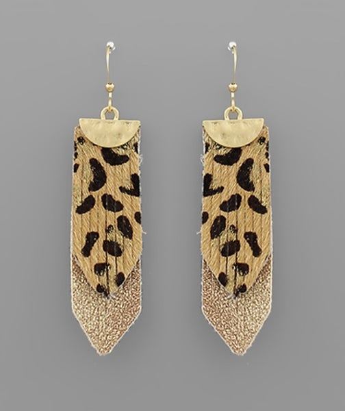 Life in Leopard Layered Earrings