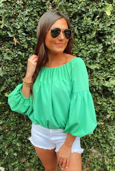 Kelly Green Bubble Top