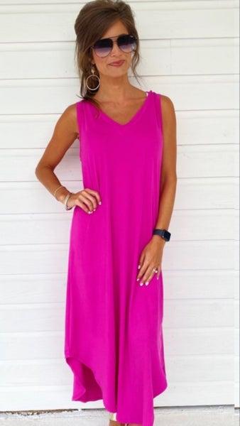 Macie Maxi Dress- Fuchsia