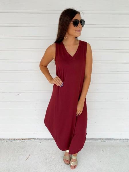 Macie Maxi Dress- Wine