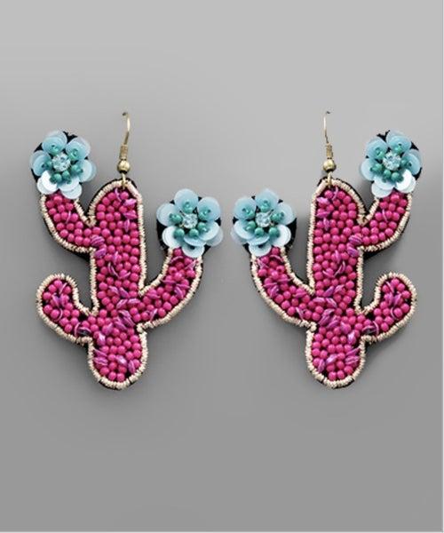 Cactus Flower Earrings