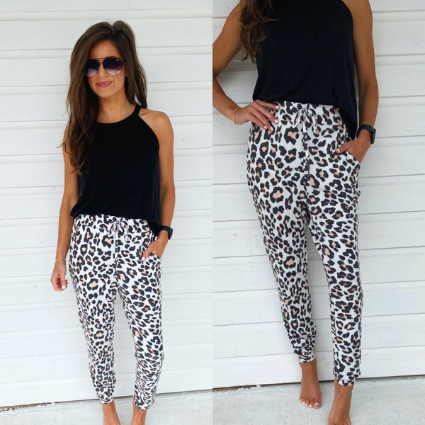 Soft Leopard Joggers