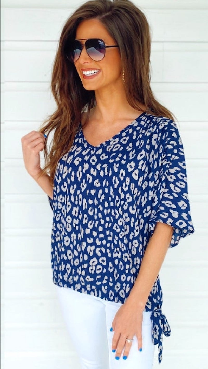 Serenity Spotted Navy Top