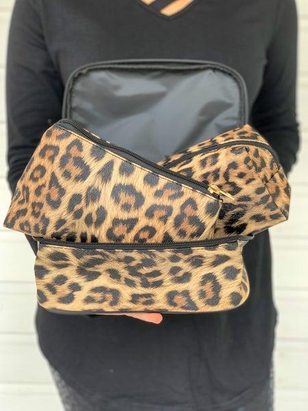 Leopard Cosmetic 3Piece Set