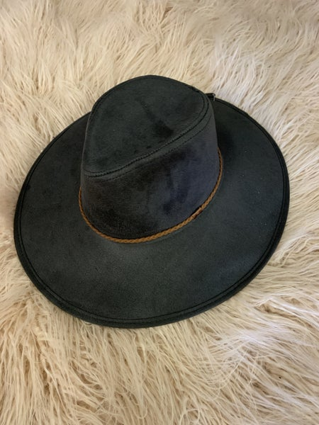 Charcoal Suede Hat