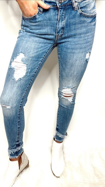 Light Denim Distressed Jeans