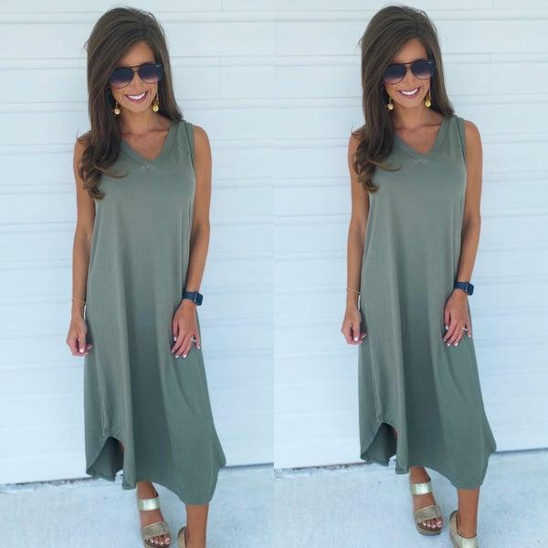 Macie Maxi Dress- Olive